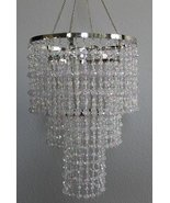 """Acrylic 15.5"""" long Beaded Clear Chandelier great idea for Wedding & Parties - $49.75"""