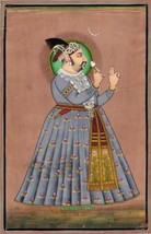 Rajasthani Painting Jaipur Maharaja Madho Singh Handmade Indian Miniatur... - $229.99