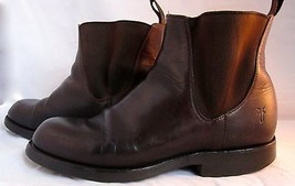 Frye Chelsea Boots Size 8M Brown Leather M Mens Shoes  - $99.99