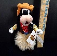 "Disney Store Bean Bag Plush COWBOY GOOFY 9"" Stuffed Toy Frontier land NE... - $9.89"