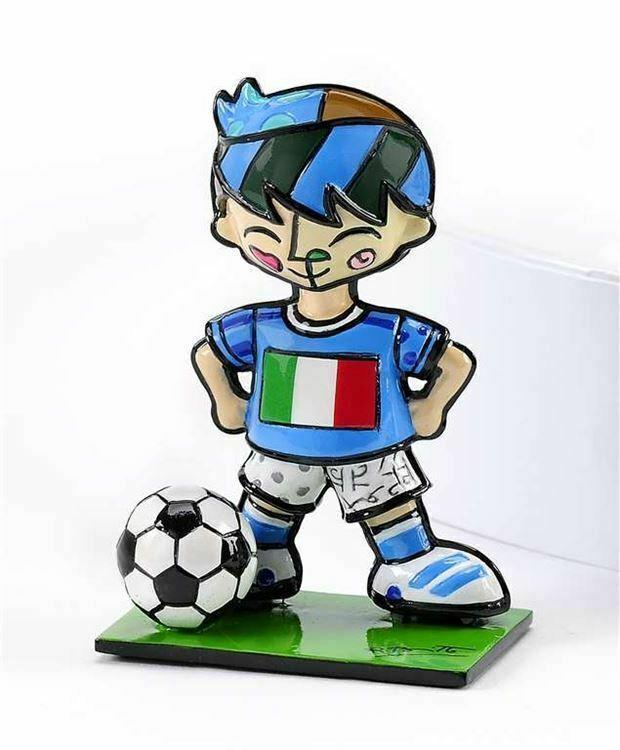 Romero Britto Mini World Cup Soccer Player Mini Figurine Italy
