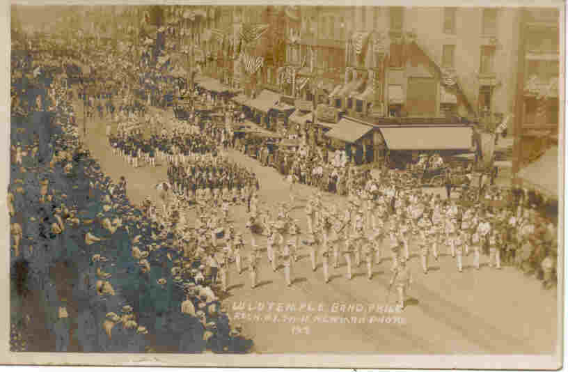 Primary image for Shriners LuLu Temple Band Rochester New York Parade Vintage 1911 Post Card