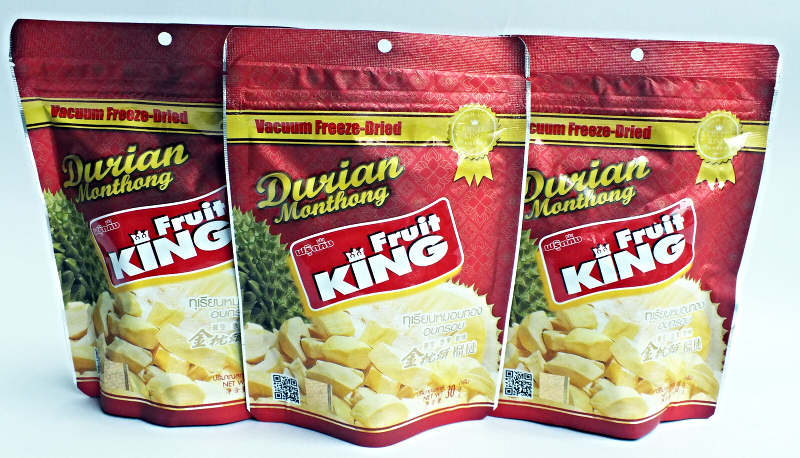 NEW FRUIT KING SNACK Dried Durian Monthong Thailand Healthy Kosher Halal 50g