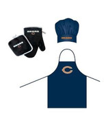 NFL Chicago Bears Barbeque Apron, Chef's Hat and Pot Holder Deluxe Set - $30.99