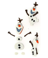 Olaf Snowman Plastic Novelty Plastic Buttons/DIY Sewing supplies/Party S... - $3.99