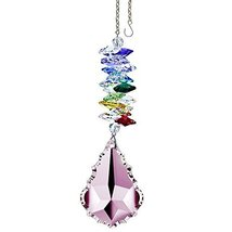 "Crystal SunCatcher 5"" Colorful Crystals Swarovski Pink Pendeloque Prism - $28.50"