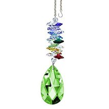 "Crystal SunCatcher 5"" Colorful Crystals Swarovski Light Green Almond Prism - $28.50"