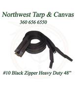 "Zipper, 48"" Inches Black, #10 Seperating Zipper, YKK Vislon, Double Slider - $11.20"