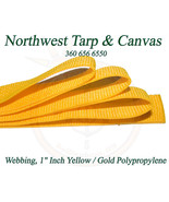 """Webbing, 1"""" Inch Gold Polypropylene Sold By-The-Yard 36"""" Ships from USA! - $0.99"""