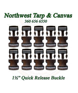 """Quick Release Buckle, for 1½"""" Inch Webbing, Acetal Plastic, 10 Pc. Set - $10.84"""