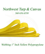 """Webbing, 1"""" Inch Yellow Polypropylene Sold By-The-Yard 36"""" Ships from Th... - $0.99"""
