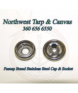 Stainless Steel Cap & Socket Only, Marine Grade - 10 Piece Set - Bayline... - $5.52