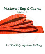 """Webbing, 1"""" Inch Red Polypropylene Sold By-The-Yard 36"""" - Ships from The... - $0.99"""