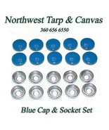 Snap Fastener's, Blue, Stainless Steel Cap & Socket Only, Marine Grade, ... - $8.59