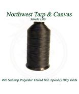Thread, # 92 Polyester, SunStop, Black,  8 Ounce Spool, 2100 Yards / 192... - $34.89