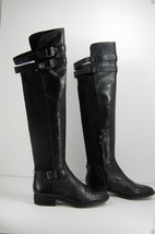 Sam Edelman Portland Womens Black Leather Over The Knee Riding Boots 6 - $129.99