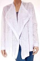 Helmut Lang Womens White Animal Print Stretch Long Sleeve Wrap Sweater T... - $55.99