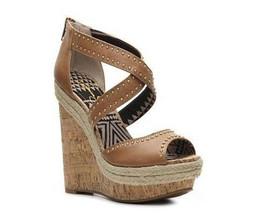 Jessica Simpson Cecelia Womens Dark Tan Wedges Platform Heels Shoes 10 M - $47.99