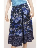 Adrianna Papell 11CS34970 Womens Blue Navy Lined Floral Pleat A Line Ski... - $24.79