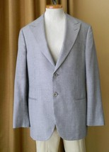 GIORGIO ARMANI Sport Coat Blazer Silk Wool Black White Small Check 52 IT - $177.21