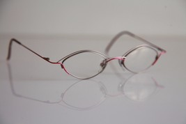 OBERMANN OPTIK Eyewear, Silver, Red Frame,  RX-Able Prescription lenses. - $49.50