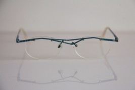 CFL Eyewear, Blue Half Rimless Frame, RX-Able Prescription Lenses. Germany - $32.67