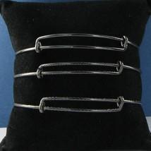 Alex & Ani Set of 3 Blackened Silver Expandable EWB Bracelet Russian Silver NWT - $35.88