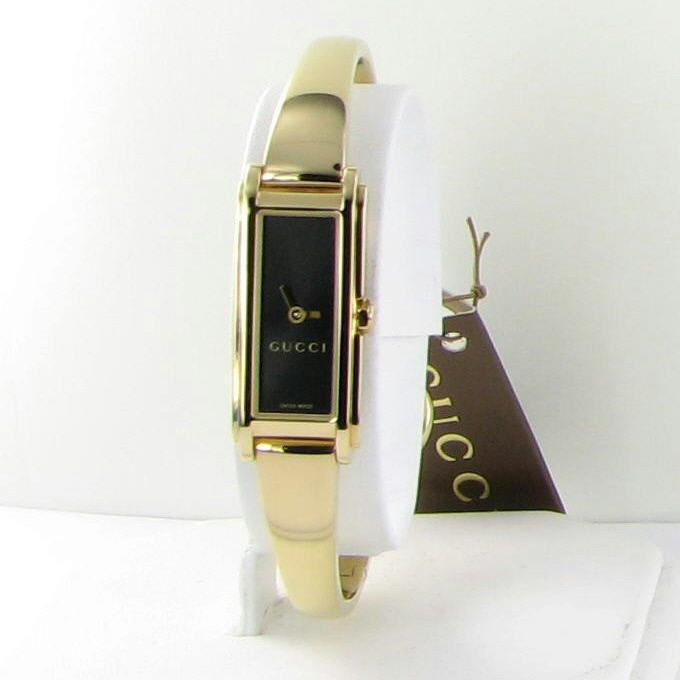 9c1a01496 Gucci 109 YA109524 G-Line Rectangular Gold and 50 similar items. 57