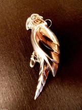 VTG Sterling Silver 925 signed Parrot Bird Pendant or Pin Brooch - $88.11