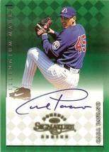 1998 donruss signature autograph millennium marks carl pavano baseball c... - $9.99