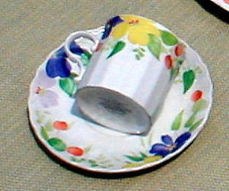 MIKASA PERENNIAL BLOOM CAJ12 CUP AND SAUCER SET - $4.94