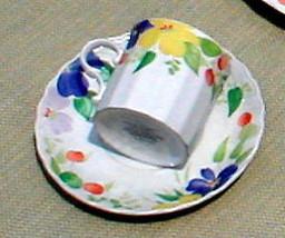 MIKASA PERENNIAL BLOOM CAJ12 CUP AND SAUCER SET - $4.94