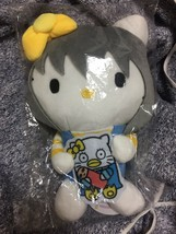 Hello Kitty × Gintama collabo plush Gin Tama Stuffed Cat NEW Ginji Sakat... - $45.00