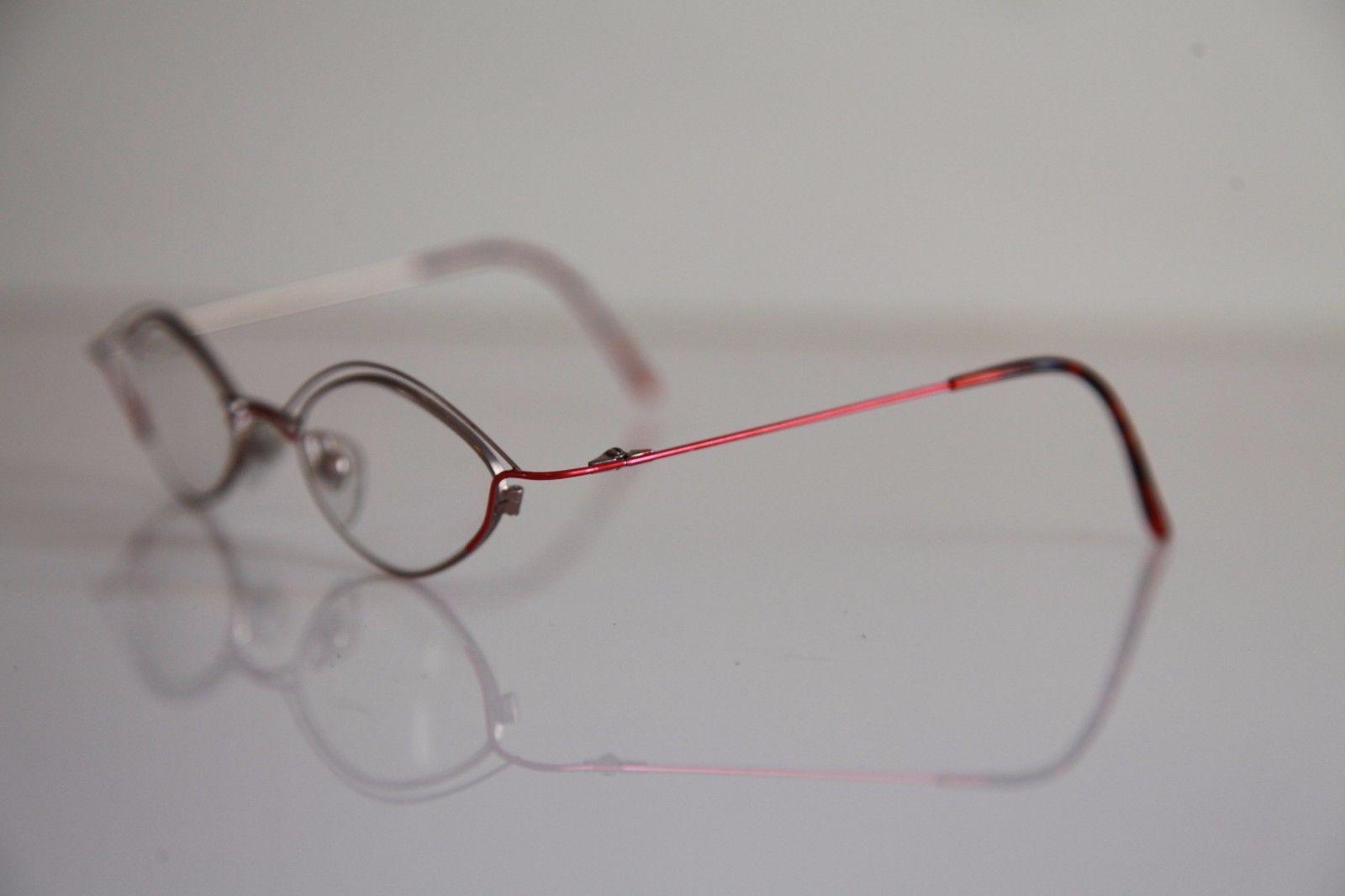 OBERMANN OPTIK Eyewear, Silver, Red Frame,  RX-Able Prescription lenses.