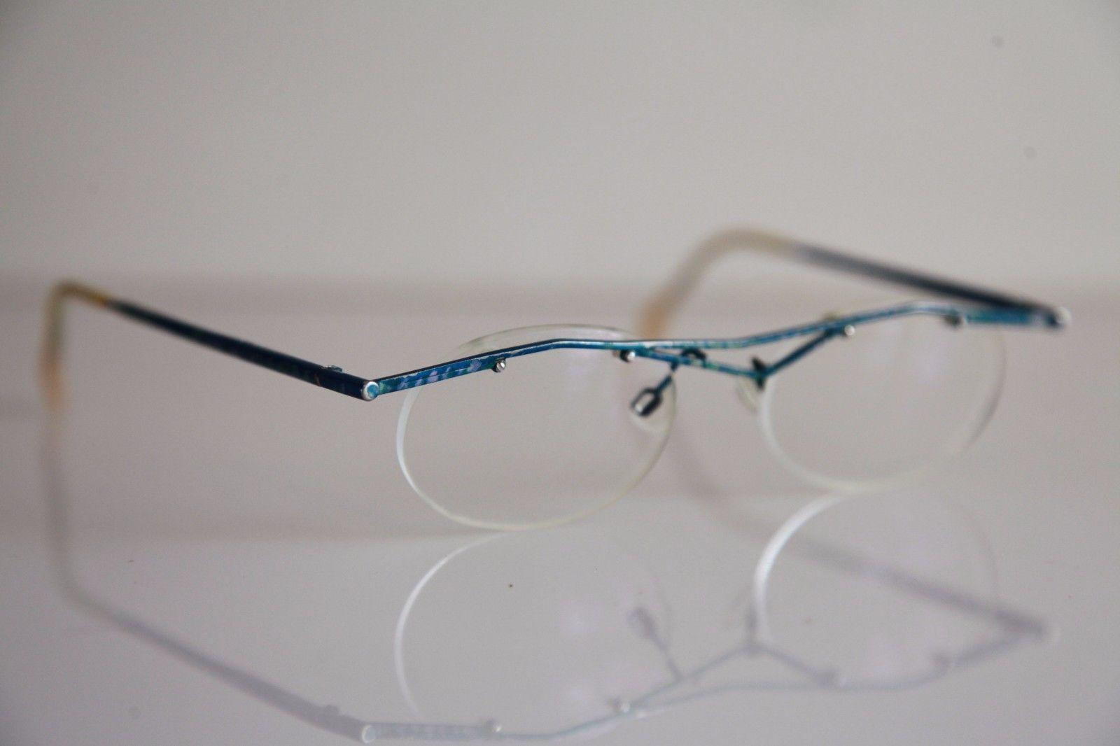 CFL Eyewear, Blue Half Rimless Frame, RX-Able Prescription Lenses. Germany