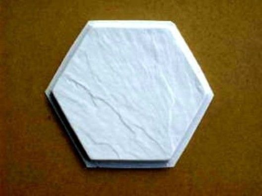 Slate Texture Tile Molds (3) 12x12 Hexagon Make Concrete Floor Tiles @ $0.30 EA.