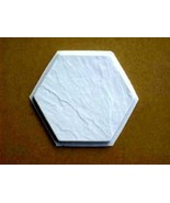 3- 12x12 HEXAGON SLATE TEXTURE CONCRETE FLOOR TILE MOLDS CRAFT TILES @ $... - $39.99