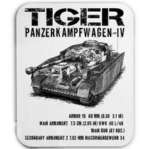 TIGER PANZER IV GERMANY WWII TANK - MOUSE MAT/PAD AMAZING DESIGN - $12.22