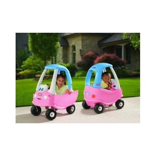 Little Tikes Car Ride On Toys Toddler Cozy Coupe Princess Outdoor Girls Pink NEW