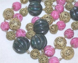 Early Vintage Carved Bakelite Bead Necklace Ven... - $250.00