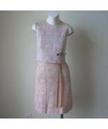 Mod Vintage 50s 60s Bombshell Illusion Lace Sheath Dress Illusion Lace C... - $60.00