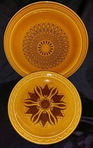 Vintage Groovy 70's 2 piece Serving Plate Combo  - $6.93