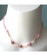 Vintage Kim Craftsman 70s Japanese Millefiori Bead Satin Necklace 7 colors - $20.00