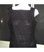 Vintage 40s Embroidered Secretary Wiggle Dress Eyelet Lace Garden Party ... - $85.00