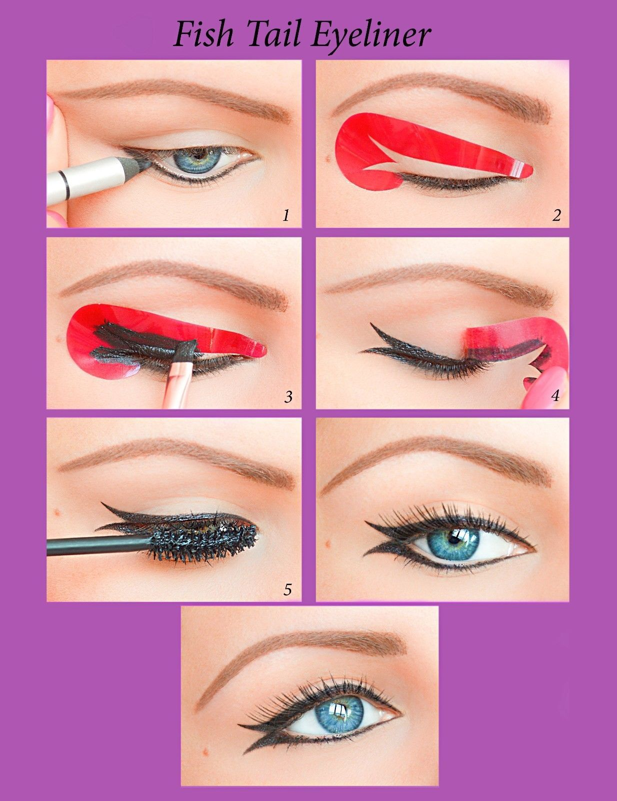 Quick Eyeliner Stickies Stencil Cosmetic Eye Makeup Tool  Free Shipping NEW US2