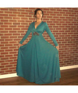 Sexy Vintage Arthur Dalager Neiman Marcus Full Sweep Maxi Dress Gown - $79.00