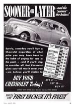 """1941 Chevrolet 4-door Sedanart """"Sooner or Later... - $9.49"""