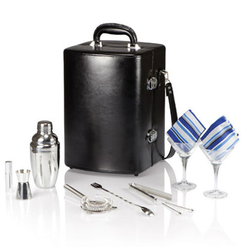Manhattan Cocktail Case for Two - Black