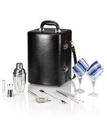 Manhattan Cocktail Case for Two - Black - £150.20 GBP