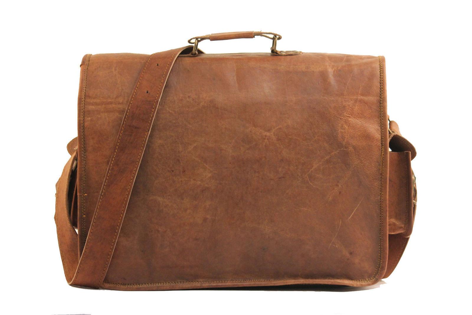 Men  39 s Genuine Vintage Leather Messenger Bag Shoulder Laptop Bag Mens  Leather Bag a34d97bb75a93